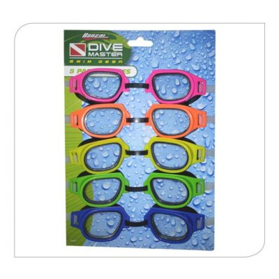 5 Pack Swim Goggles - Youth